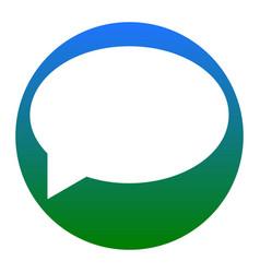 speech bubble icon white icon in bluish vector image vector image