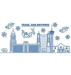 Usa california san antonio winter city skyline vector