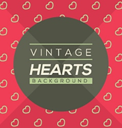 Vintage hearts background vector