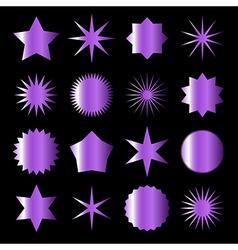 violet stars vector image