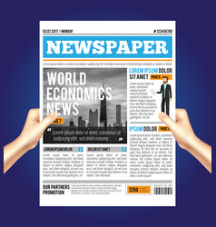 World economic newspaper composition vector