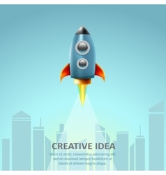 Space rocket launch creative idea business vector