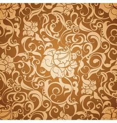 Brown Seamless wallpaper pattern vector image