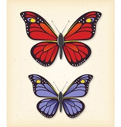 Summer butterfly set vector image