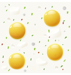 Background from scrambled eggs vector image