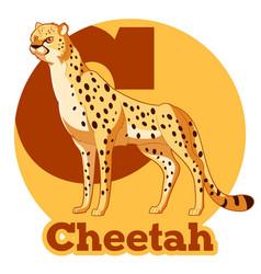 abc cartoon cheetah vector image