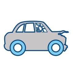 Crash car and dangerous automobile accident vector
