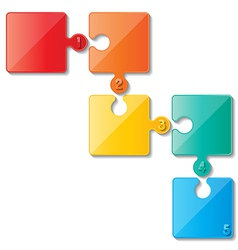 puzzle infoghaphics vector image