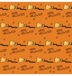 Happy halloween seamless pattern with witches vector