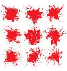 blood splat collect vector image