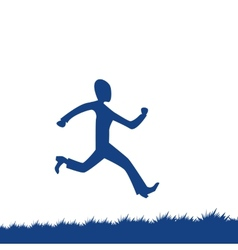 Cartoon man running vector
