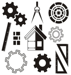 House construction icons vector