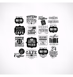 Set of vintage retro vector