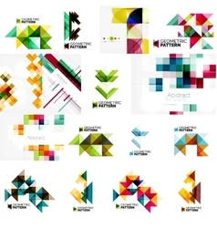 Set of various universal geometric layouts - vector