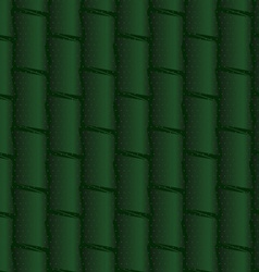 Textured ornament with dark green bamboo vector
