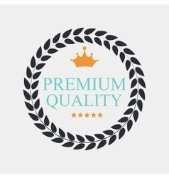 Premium quality label vector