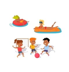 Summer fun and entertainments vector