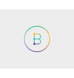 Abstract letter B logo design template Colorful vector image vector image