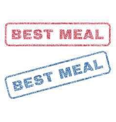 best meal textile stamps vector image vector image