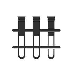Black icon on white background three test tube vector