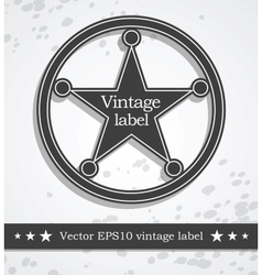 Black label with retro vintage style design vector image