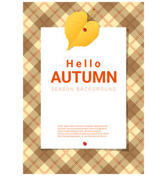 Blank poster on autumn theme background vector
