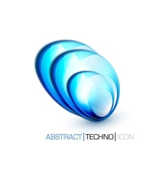 blue fluid concept vector image