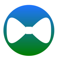 Bow tie icon white icon in bluish circle vector