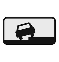 Car on the roadside icon flat style vector