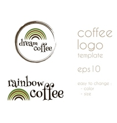 Dream coffee vintage labels logo template vector