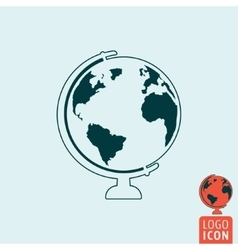 Earth icon isolated vector