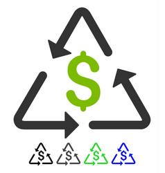 financial recycling flat icon vector image