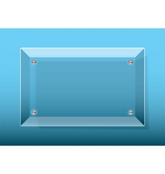 glass plaque blue vector image vector image