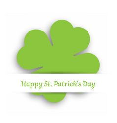 green cut out four leaf clover attached in the vector image vector image