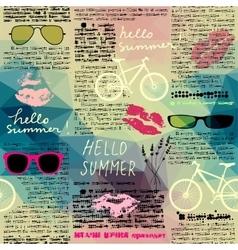 Imitation of newspaper hello summer vector