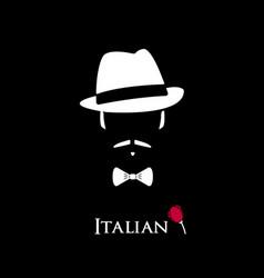 italian mafioso vector image vector image