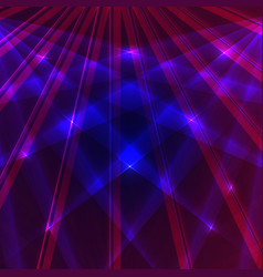 laser background with blue and violet rays vector image vector image