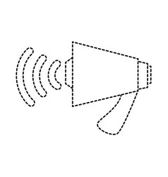megaphone audio isolated icon vector image