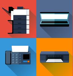 office appliance flat design vector image
