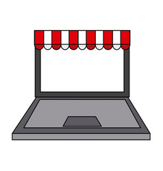 Online shopping or ecommerce icon image vector