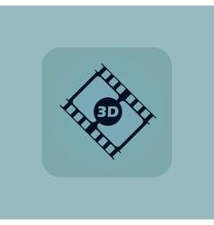 Pale blue 3d movie icon vector