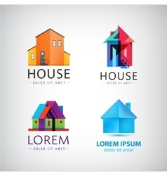 Set of house logos property real estate vector