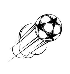Speeding ball with black stars vector
