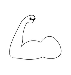 strong power muscle arms biceps athletic vector image