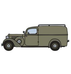Vintage delivery van vector