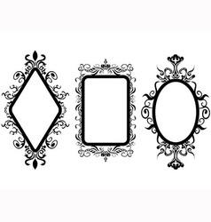 Vintage frame mirror vector