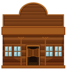 western style building for shop vector image
