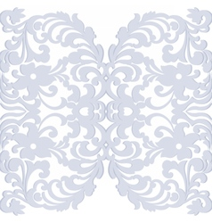 Elegant lacy feather decoration vector