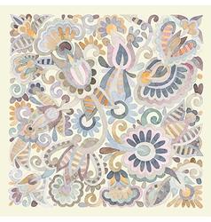 watercolor flower ethnic design vector image
