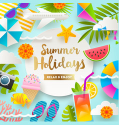 Summer holidays and beach vacation design vector
